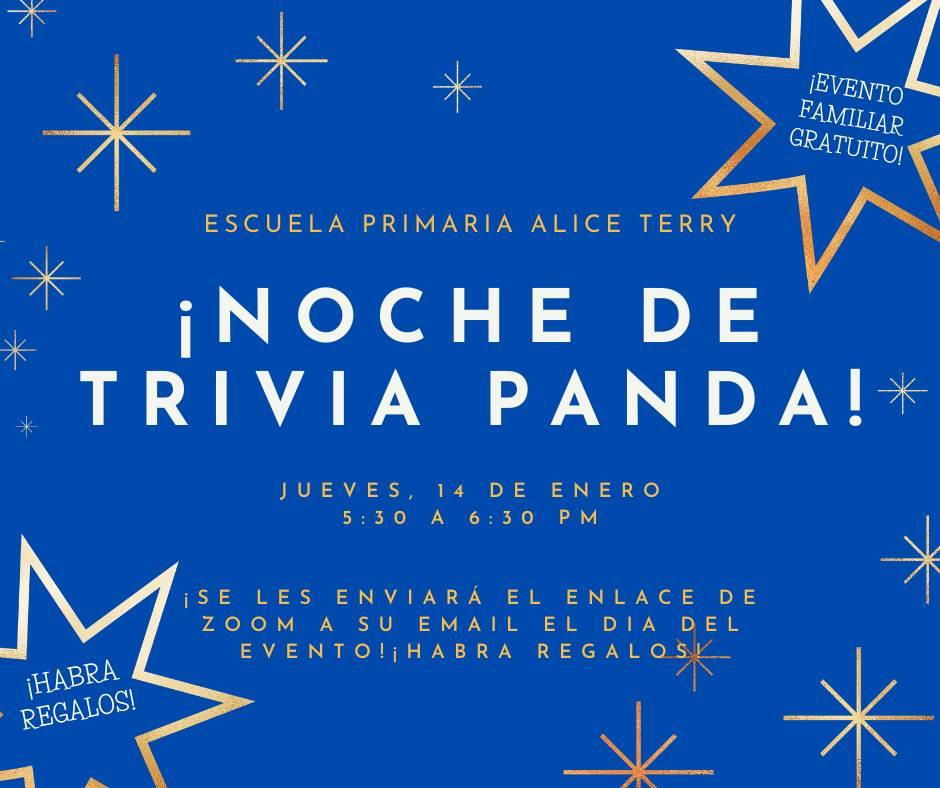 Panda Trivia Night Spanish Advertisement