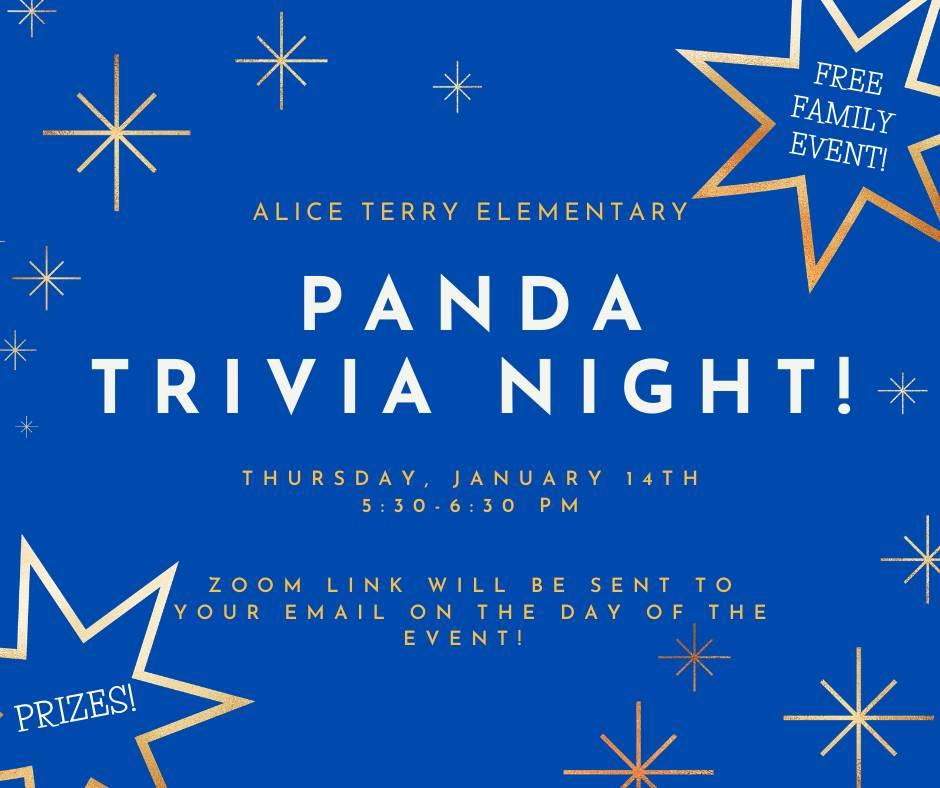 Panda Trivia Night English Advertisement