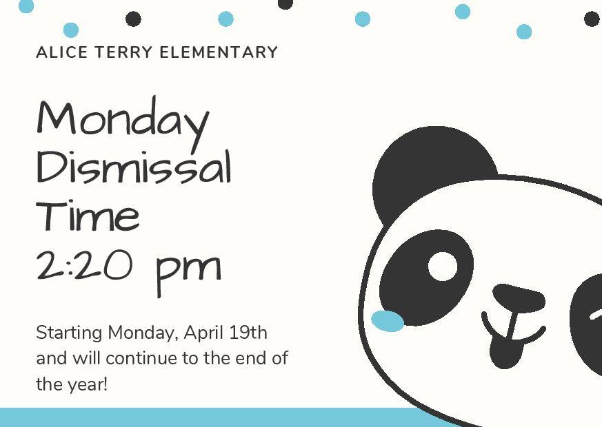 Panda with Monday Schedule Change