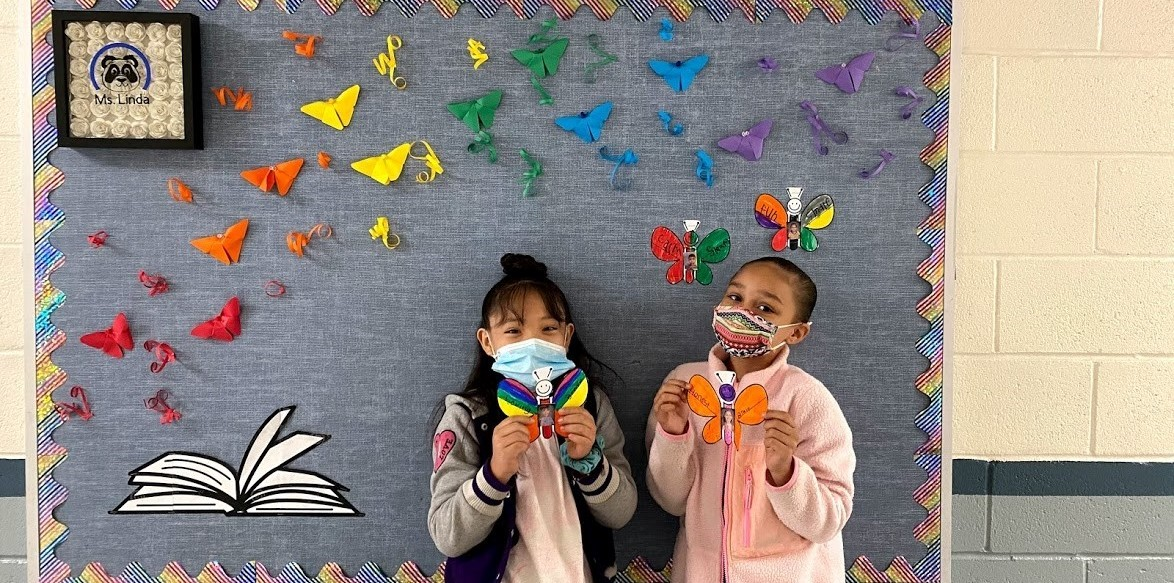 Students at Alice Terry with Butterflies