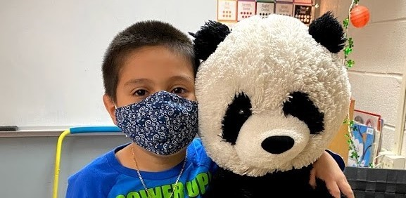 Student with Pandabear