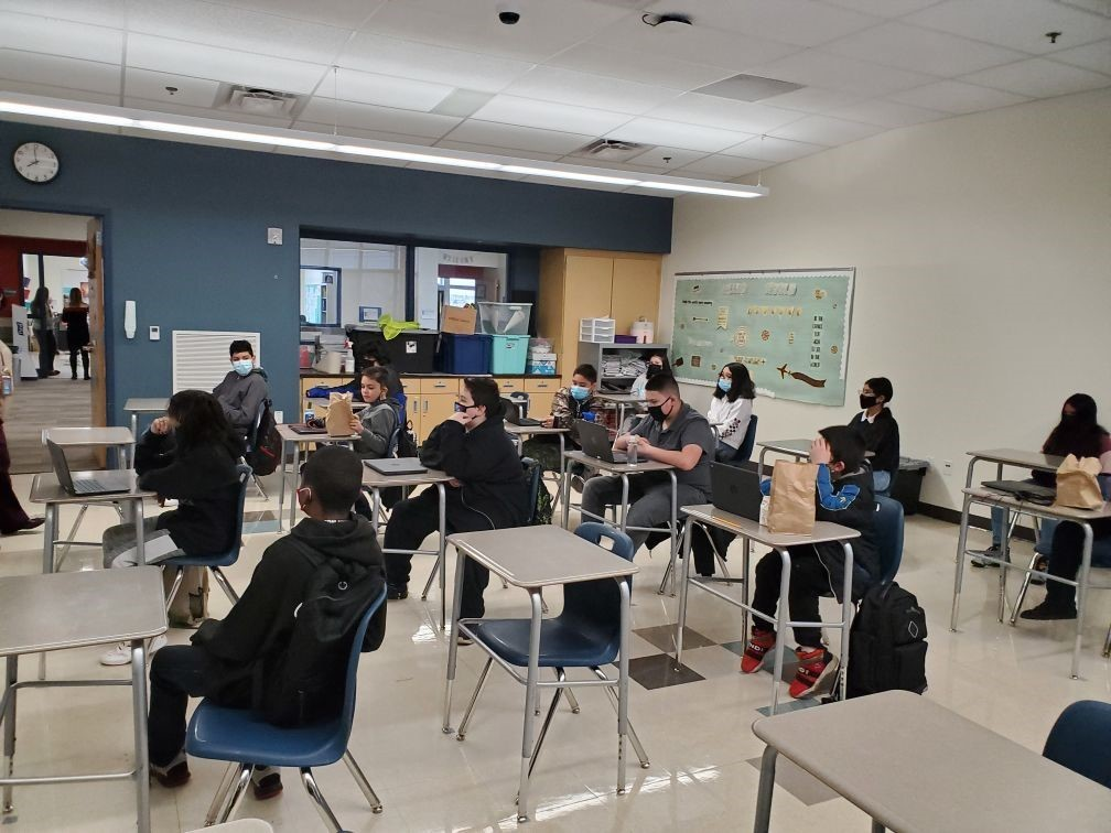 6th Graders return to in-person learning