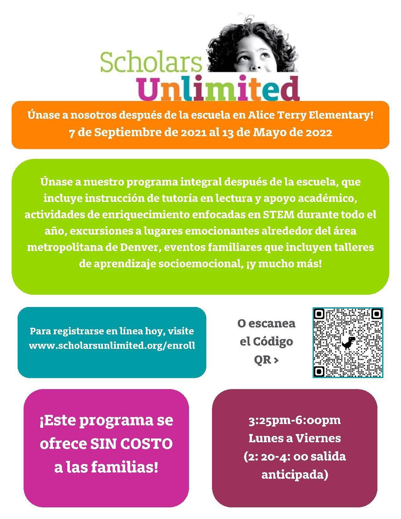 before and after school care flyer spanish
