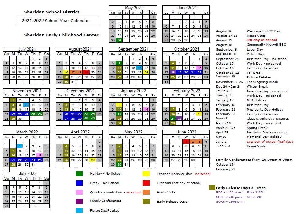 ECC School Year Calendar